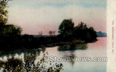 The Pond - Greenbush, Wisconsin WI Postcard