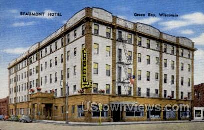 Beaumont Hotel - Green Bay, Wisconsin WI Postcard