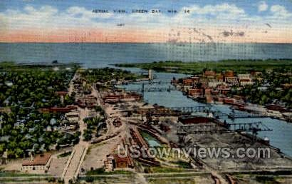 Aerial View - Green Bay, Wisconsin WI Postcard