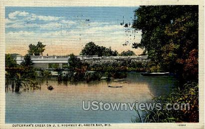 Dutchman's Creek - Green Bay, Wisconsin WI Postcard