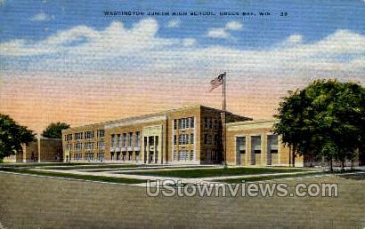 Washington Junior High School - Green Bay, Wisconsin WI Postcard