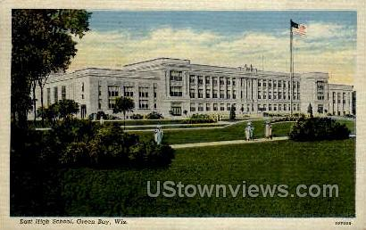 East High School - Green Bay, Wisconsin WI Postcard