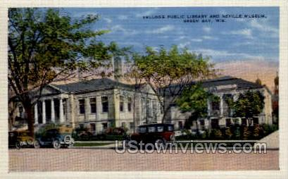Kellogg Public Library - Green Bay, Wisconsin WI Postcard