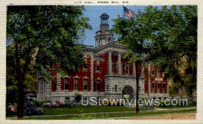 City Hall - Green Bay, Wisconsin WI Postcard