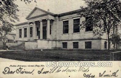 Public Library - Green Bay, Wisconsin WI Postcard