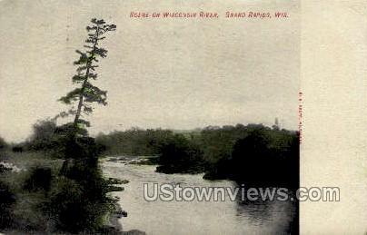 Wisconsin River - Grand Rapids Postcard