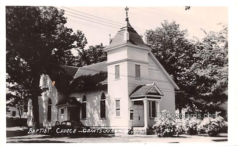 Baptist Church - Grantsburg, Wisconsin WI Postcard