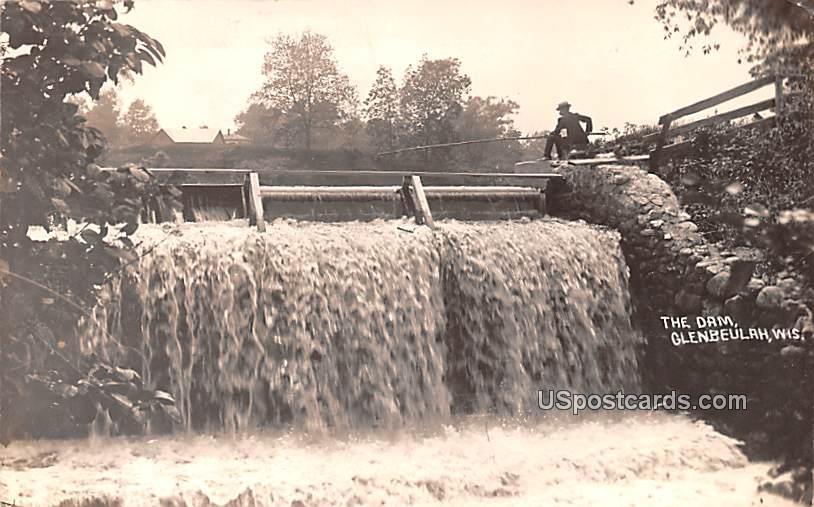 The Dam - Glenbeulah, Wisconsin WI Postcard