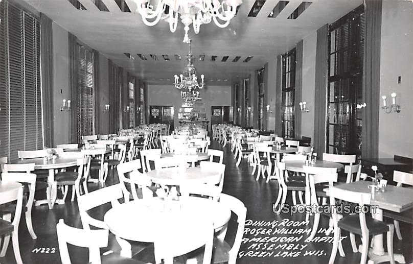 Dining Room - Green Lake, Wisconsin WI Postcard