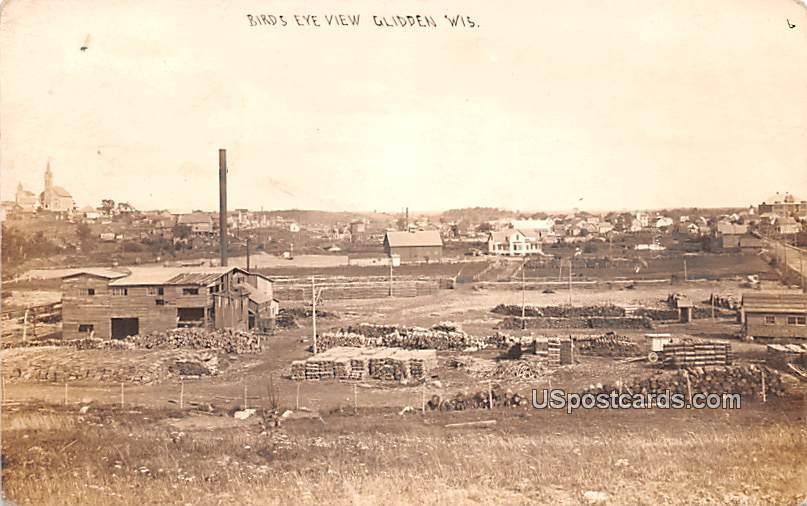 Birds Eye View - Glidden, Wisconsin WI Postcard