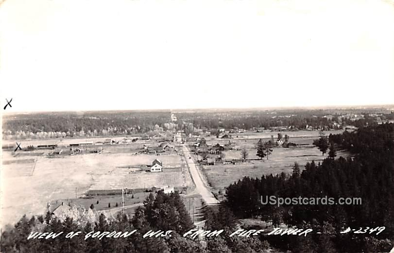 From Fire Tower - Gordon, Wisconsin WI Postcard