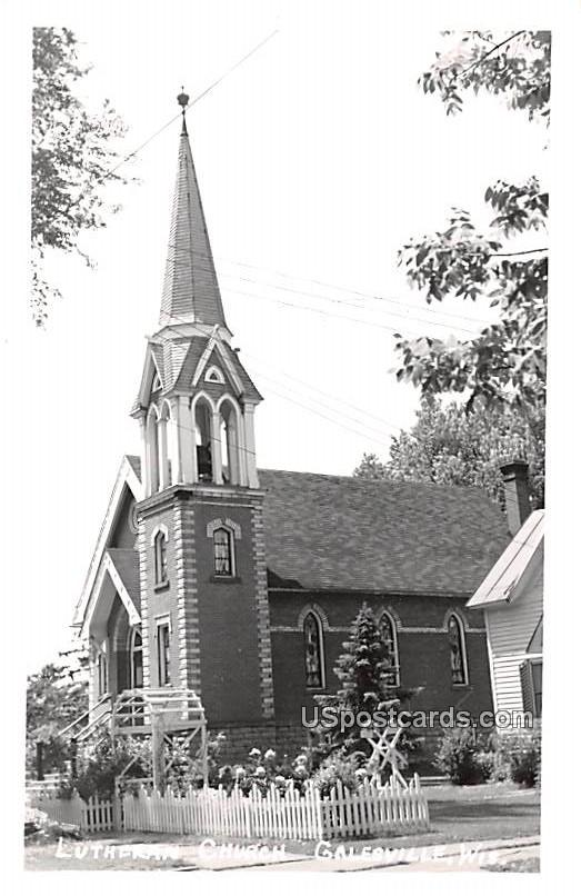 Lutheran Church - Galesville, Wisconsin WI Postcard