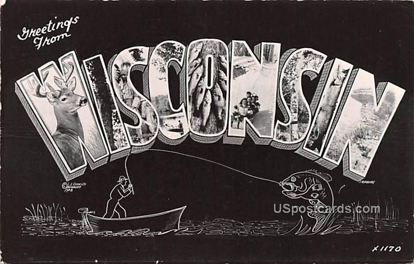 Greetings from - Wisconsin WI Postcard