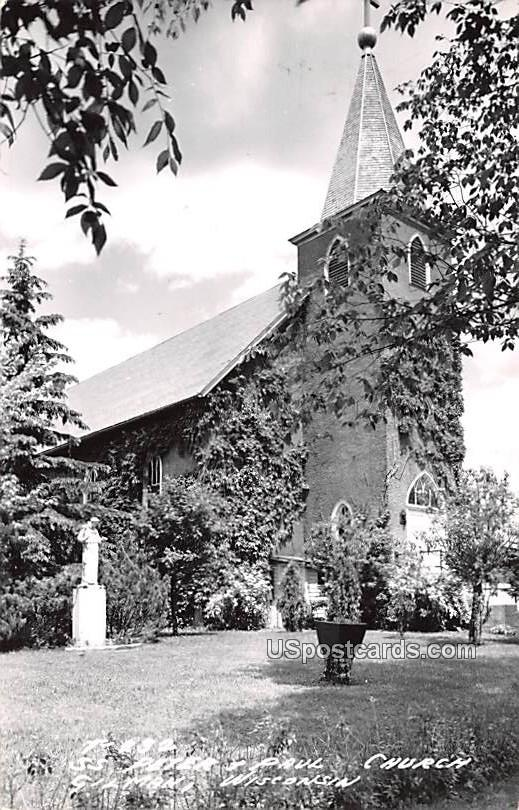 St Peter and Paul Church - Gilman, Wisconsin WI Postcard