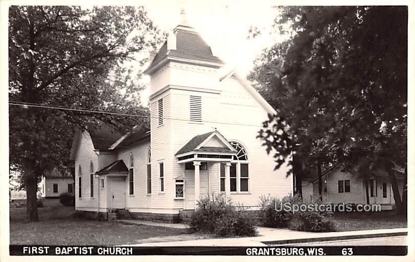 First Baptist Church - Grantsburg, Wisconsin WI Postcard