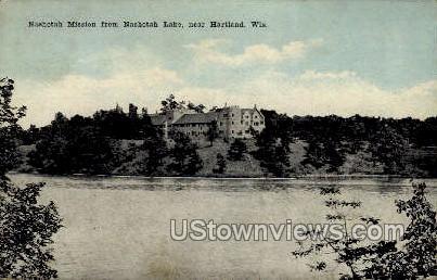 Nashotah Lake - Hartland, Wisconsin WI Postcard