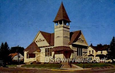 First Congregational Church - Hayward, Wisconsin WI Postcard