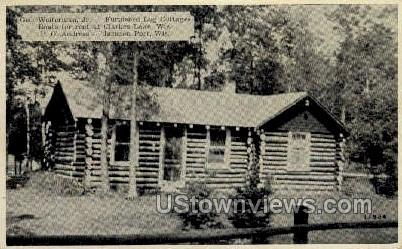 Furnished Log Cottages - Jackson Port, Wisconsin WI Postcard