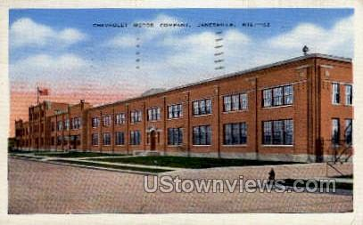 Chevrolet Motor Company - Janesville, Wisconsin WI Postcard
