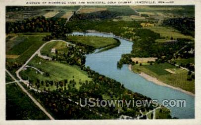 unicipal Golf Course - Janesville, Wisconsin WI Postcard