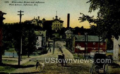 Jefferson High School - Wisconsin WI Postcard