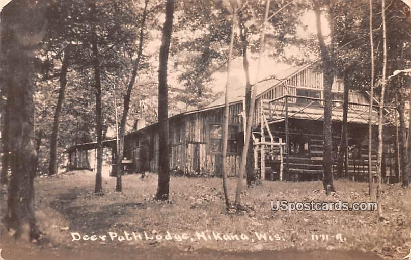 Deer Path Lodge - Hikana, Wisconsin WI Postcard