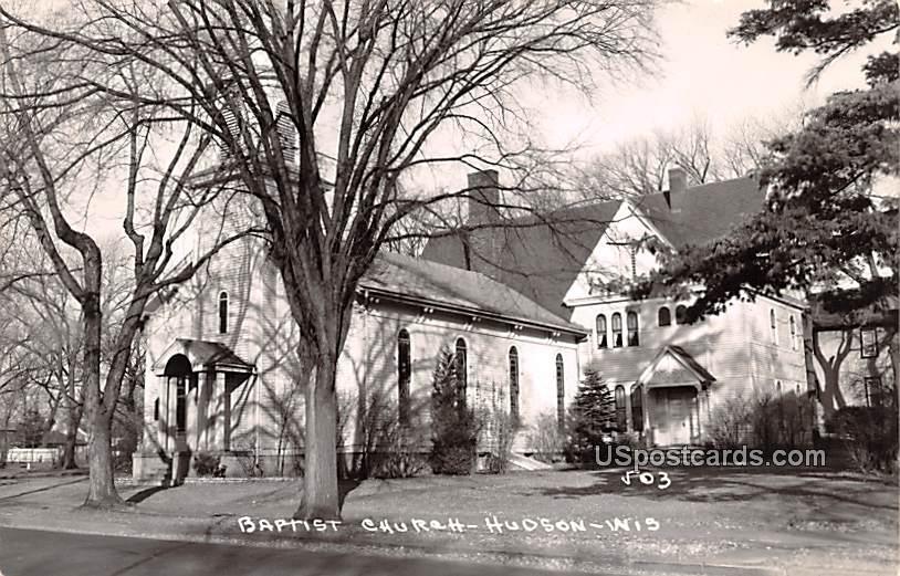 Baptist Church - Hudson, Wisconsin WI Postcard