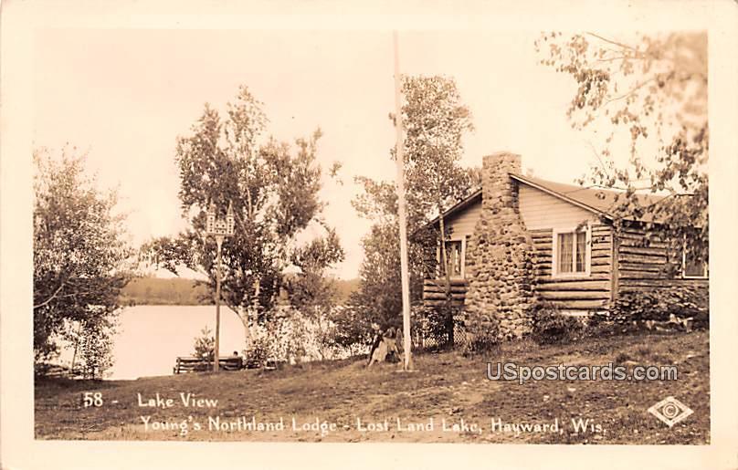 Lake View - Hayward, Wisconsin WI Postcard