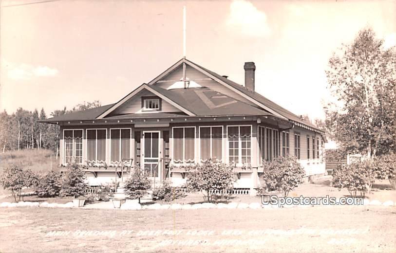Main Building at Deer Foot Lodge - Hayward, Wisconsin WI Postcard