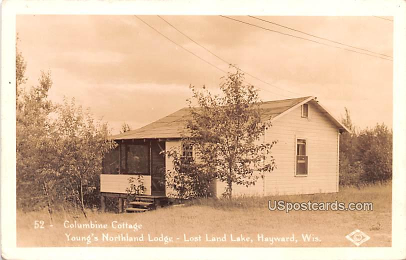 Columbine Cottage - Hayward, Wisconsin WI Postcard