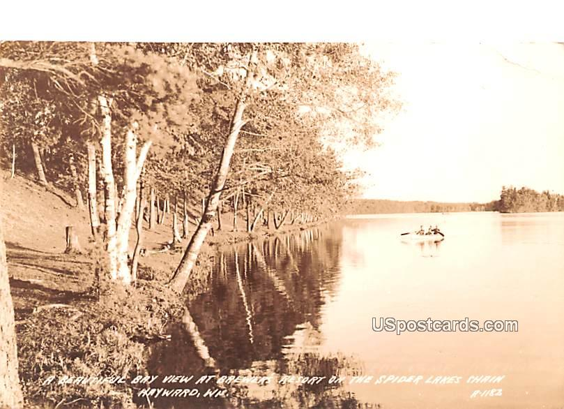 Beautiful Bay - Hayward, Wisconsin WI Postcard