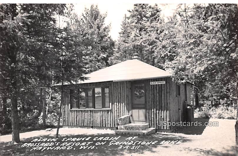 Black Spruce Cabin - Hayward, Wisconsin WI Postcard