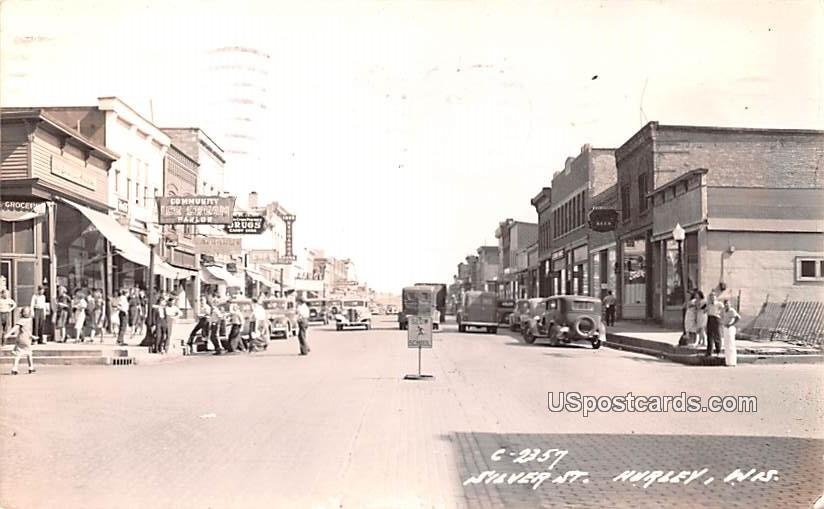 Silver Street - Hurley, Wisconsin WI Postcard
