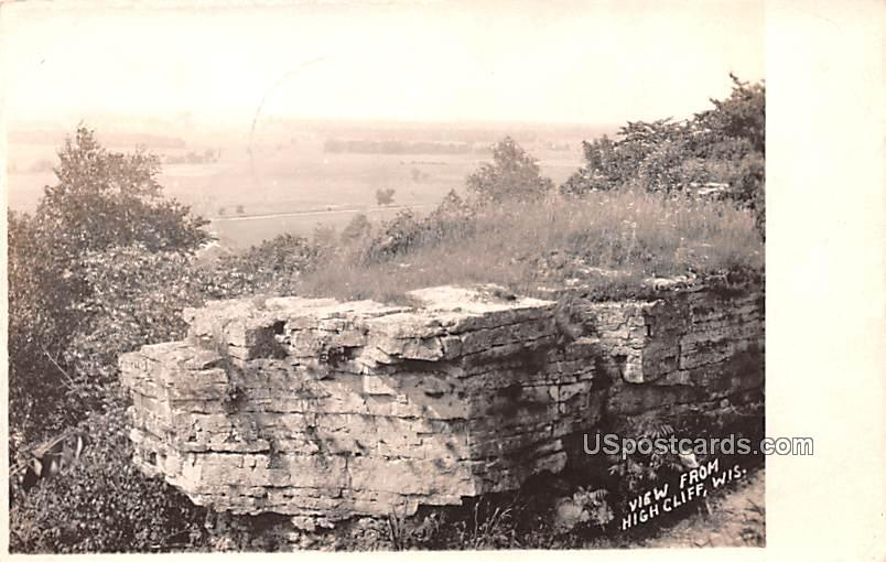 View from High Cliff - Wisconsin WI Postcard