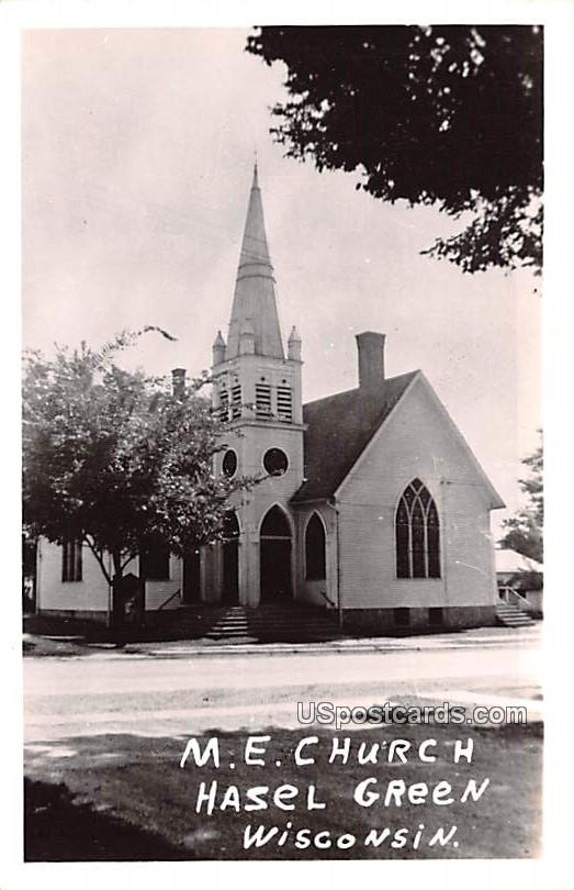 ME Church - Hasel Green, Wisconsin WI Postcard