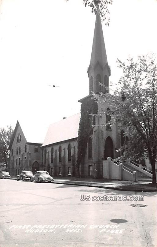 First Presbyterian Church - Hudson, Wisconsin WI Postcard