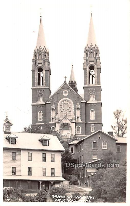 Front of Church - Holy Hill, Wisconsin WI Postcard