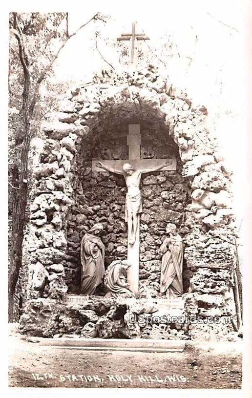12th Station Statue - Holy Hill, Wisconsin WI Postcard