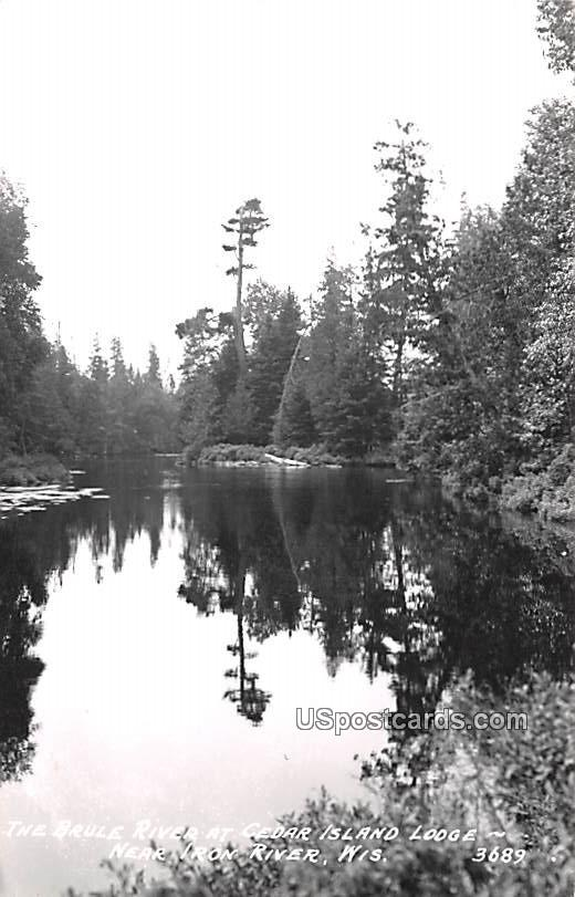 Brule River - Iron River, Wisconsin WI Postcard