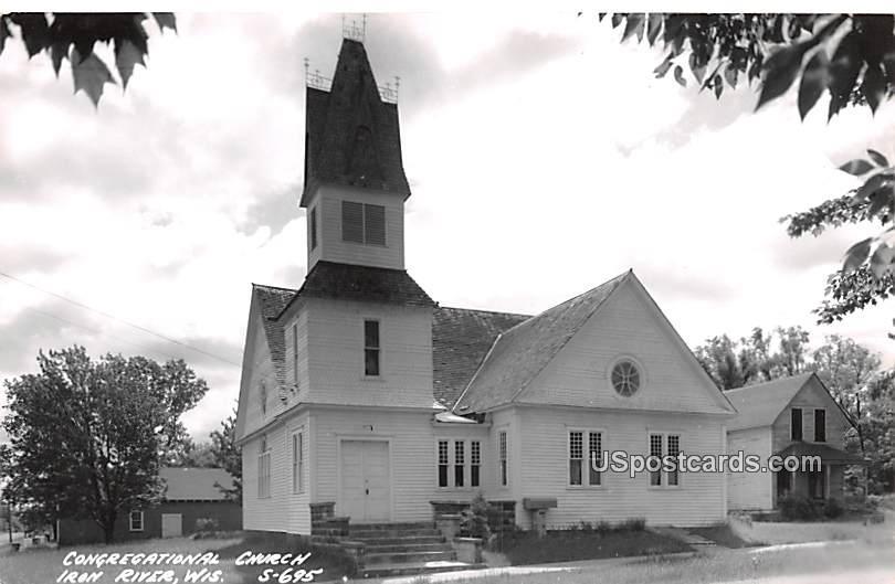 Congregational Church - Iron River, Wisconsin WI Postcard