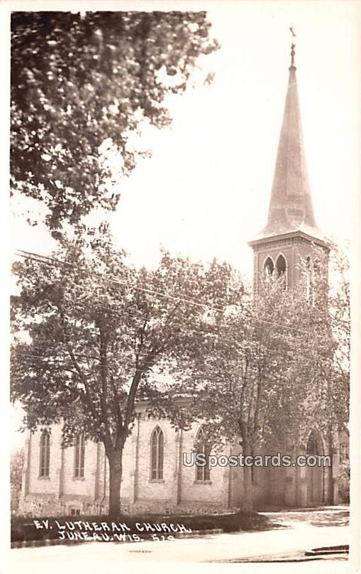 Evangelical Lutheran Church - Juneau, Wisconsin WI Postcard