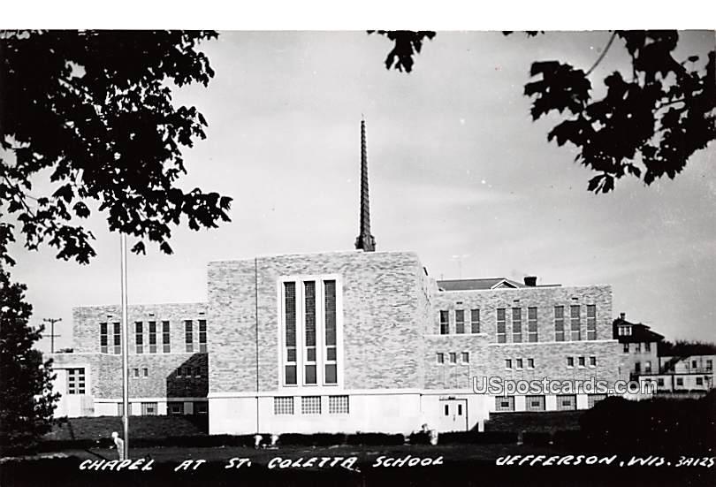 Chapel at St Coletta School - Jefferson, Wisconsin WI Postcard