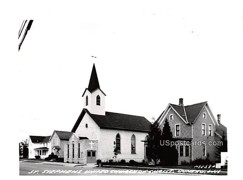 St Stephen's United Church of Christ - Juneau, Wisconsin WI Postcard