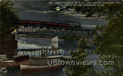 St. Paul Bridge - Kilbourn, Wisconsin WI Postcard