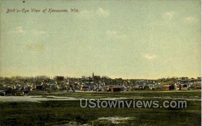 Birds Eye View - Kewaunee, Wisconsin WI Postcard