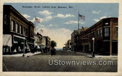 Wisconsin Street - Kenosha Postcard