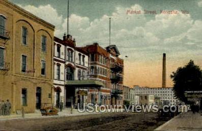 Market Street - Kenosha, Wisconsin WI Postcard