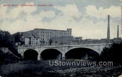 Middle Bridge - Kenosha, Wisconsin WI Postcard
