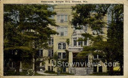 Gymnasium, Kemper Hall - Kenosha, Wisconsin WI Postcard