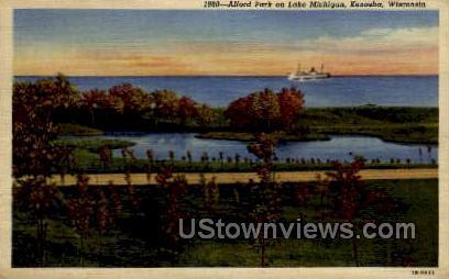 Alford Park on Lake Michigan - Kenosha, Wisconsin WI Postcard